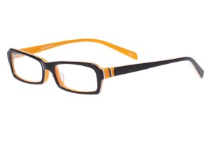 Black/orange,Fullrim,Rectangle,Acetate eyeglasses - Z803005C5