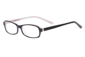 Black/clear,Fullrim,Rectangle,Acetate eyeglasses - Z803006C4