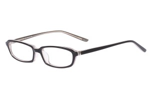Black/clear,Fullrim,Rectangle,Acetate eyeglasses - Z803007C4
