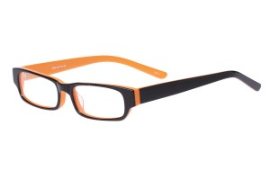 Black/orange,Fullrim,Rectangle,Acetate eyeglasses - Z803009C4