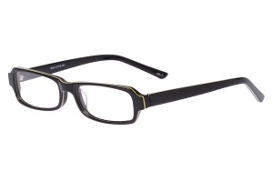 Black,Fullrim,Rectangle,Acetate eyeglasses - Z803010C3