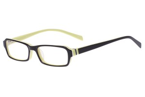 Black/green,Fullrim,Rectangle,Acetate eyeglasses - Z803011C3