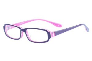 Purple/pink,Fullrim,Rectangle,Acetate eyeglasses - Z803013C4