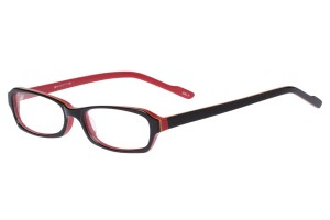 Black/red,Fullrim,Rectangle,Acetate eyeglasses - Z803014C2