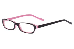 Black/pink,Fullrim,Rectangle,Acetate eyeglasses - Z803014C3