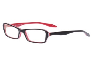 Black/red,Fullrim,Rectangle,Acetate eyeglasses - Z80AB018C51