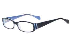 Blue,Fullrim,Rectangle,Acetate eyeglasses - Z80HX055C135