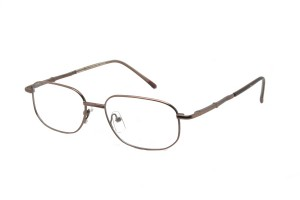 Brown,Fullrim,Rectangle,Metal alloy eyeglasses *** Eligible for 7-day Expedited Service ***  - ZMRSK9096-BR