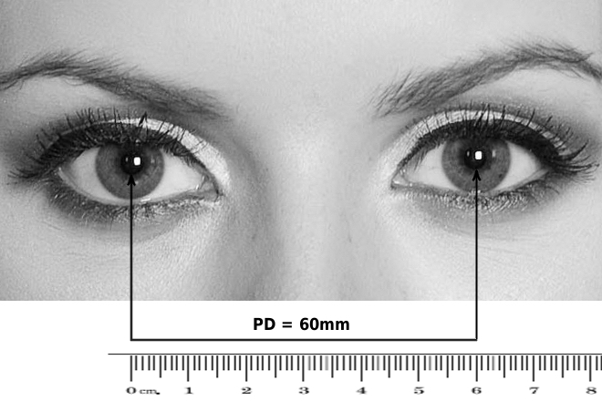 how to measure pd / pupillary distance