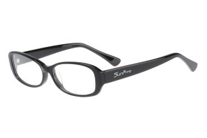 Black,Fullrim,Oval,Acetate eyeglasses - Z035299C2