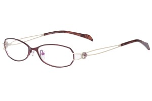 Purple/white,Fullrim,Oval,Metal alloy eyeglasses - Z165503-PUW