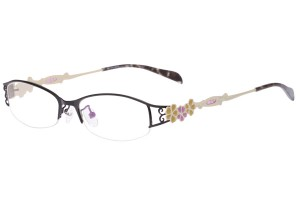 Black/yellow,Semirim,Halfrim,SemiRimless,Rectangle,Metal alloy eyeglasses - Z165547-BKY