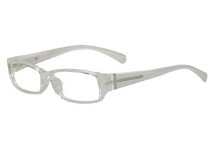 Clear/white,Fullrim,Rectangle,Acetate eyeglasses - Z66S1023C41