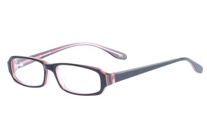 Black/pink,Fullrim,Rectangle,Acetate eyeglasses - Z803013C2